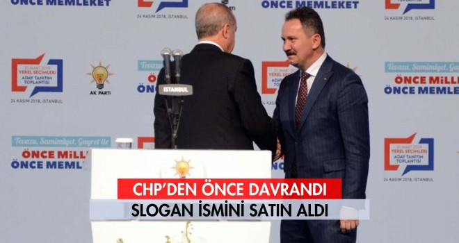 CHP Sloganı Mestan Özcan'a Kaptırdı