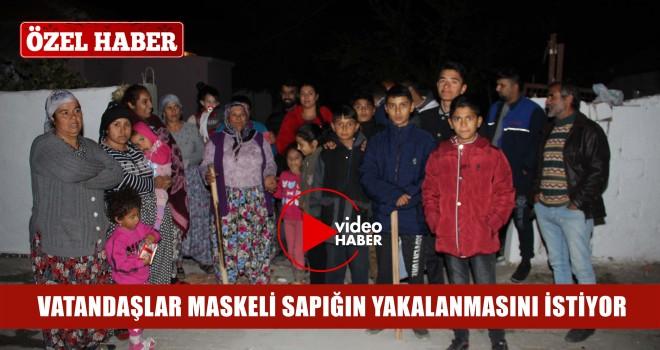 Maskeli Şahıs Vatandaşlara Korku Saldı