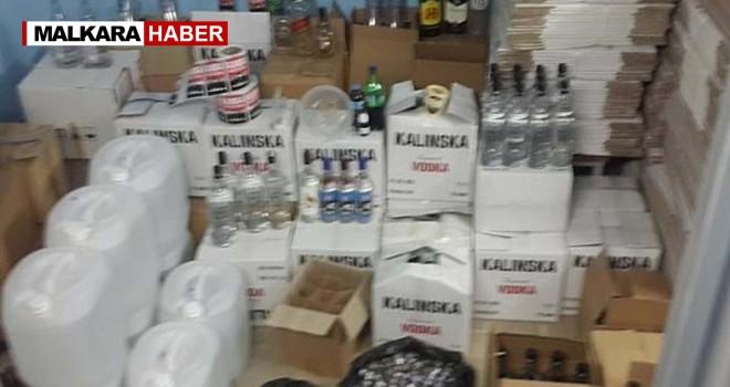 Şarköy'de Kaçak İçki Operasyonu