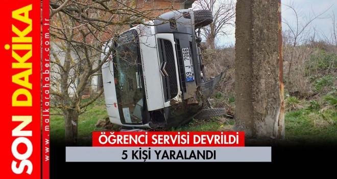 Öğrenci Otobüsü Devrildi 5 Yaralı