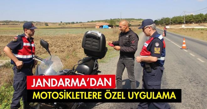 Jandarma'dan Motosikletlere Özel Denetim