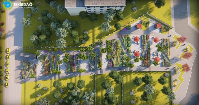 Tekirdağ'a Merdivenli Park Projesi