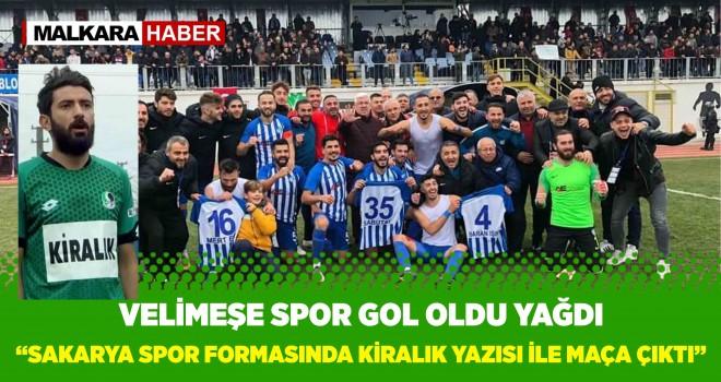 Ergene Velimeşespor Sakaryaspor'a gol oldu yağdı.