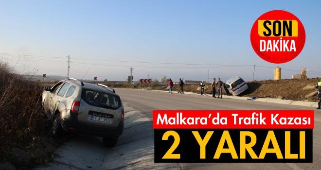 İki Otomobil Çarpıştı; 2 Yaralı