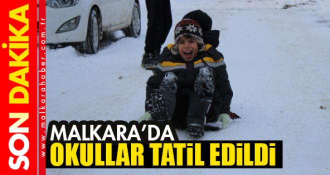 Son dakika.Malkara'da Okullara Kar Tatili!