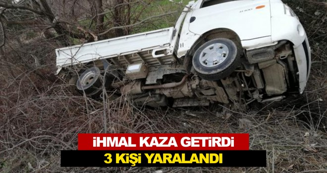 Malkara Yolundaki Kaza'da 3 Kişi Yaralandı