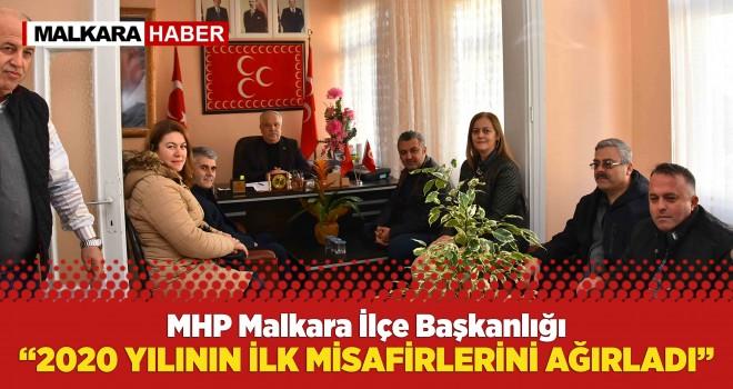 MHP Malkara İlçe Başkanı Zilbastı, Belediye Başkanını Ağırladı