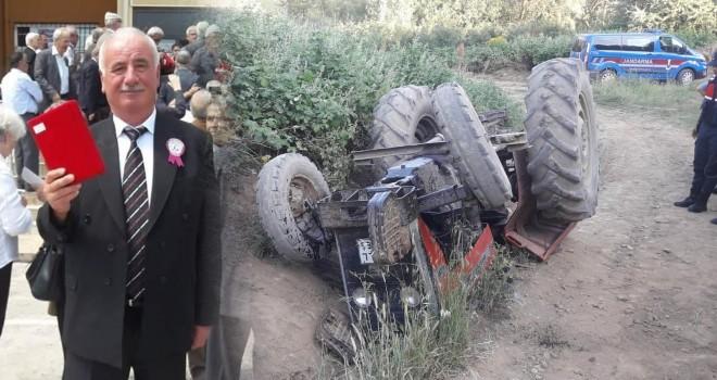 Traktör Devrildi; 1 Kişi Öldü