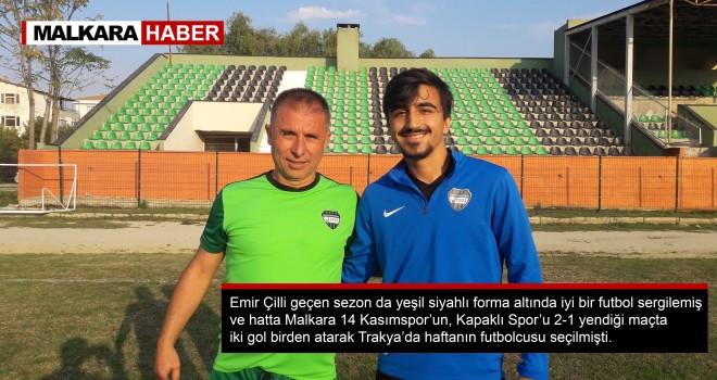Malkara 14 Kasımspor'un Genç Futbolcusu Emir Çilli Alkış Topluyor