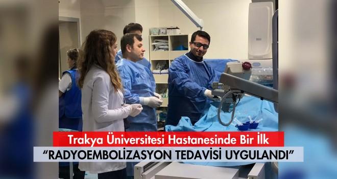 Trakya Üniversitesi Hastanesinde Bir İlk