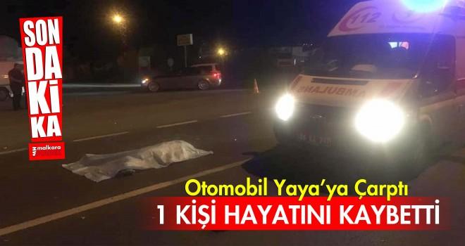 Tekirdağ'da Otomobil Yaya'ya Çarptı; 1 Ölü