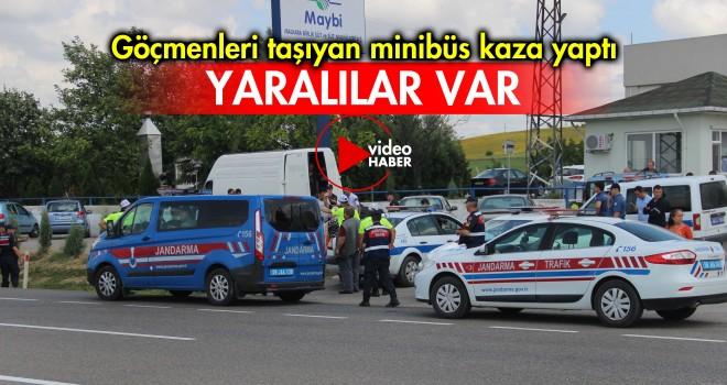Kaza Yapan Minibüsten 41 Göçmen Çıktı