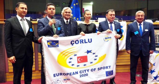 Çorlu, 2020 Avrupa Spor Kenti Unvanını Aldı