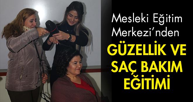 Mesleki Eğitim Merkezi'nden Güzellik ve Saç Bakım Eğitimi