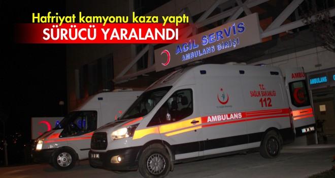 Hafriyat Kamyonu Kaza Yaptı; 1 Yaralı