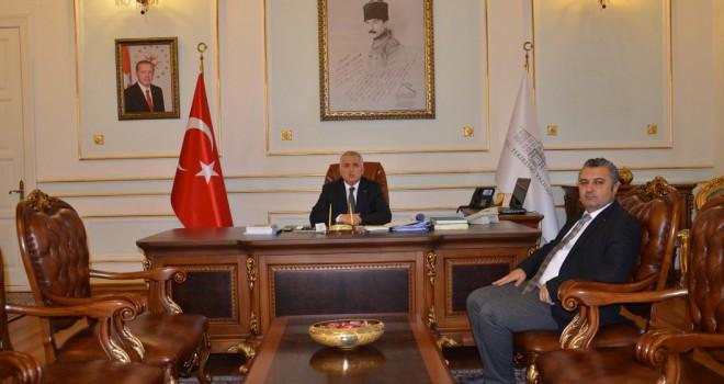 Başkan Yurdakul'dan Vali Yıldırım'a Nezaket Ziyareti