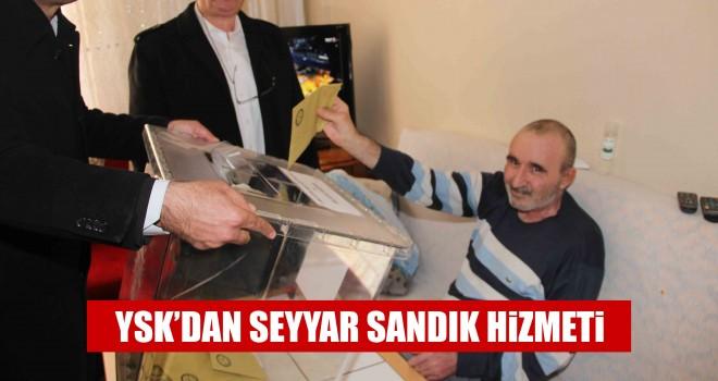 Engelli Vatandaşlar Evlerinde Oy Kullandı