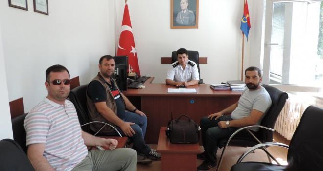 Malkara Basınından, Jandarma Komutanı Üsteğmen Oktay Oğuz'a Ziyaret