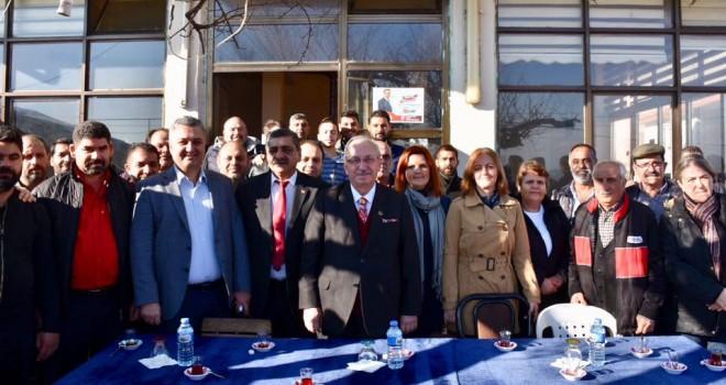 Başkanlar, Gazibey Mahallesini Ziyaret Etti