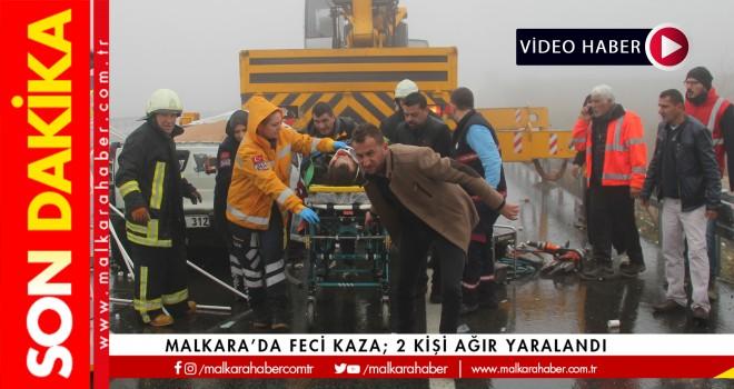 Son dakika...Malkara'da Feci Kaza; 2 Ağır Yaralı