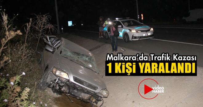 Otomobil Takla Attı; 1 Kişi Yaralandı