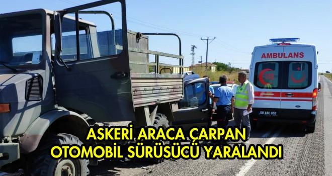 Ticari Araç Askeri Kamyona Çarptı; 1 Yaralı