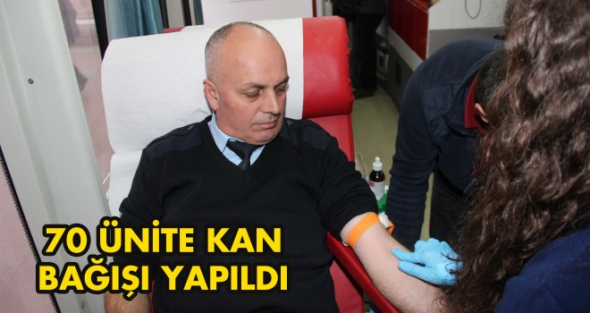70 Ünite Kan Ve 7 Kök Hücre Bağışı Yapıldı