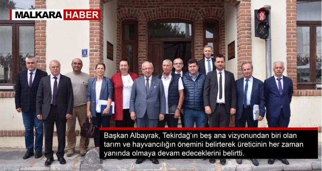 Başkan Albayrak, Zeytin ve Şarap Üreticileri ile Bir Araya Geldi