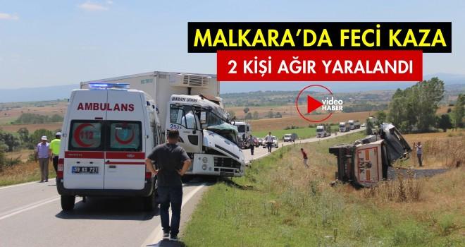 Son dakika. Malkara'da Feci Kaza; 2 Kişi Ağır Yaralandı
