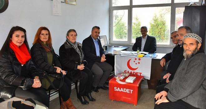 Başkan Yurdakul'dan, MHP ve Saadet Partisi Malkara İlçe Başkanlığı'na Ziyaret