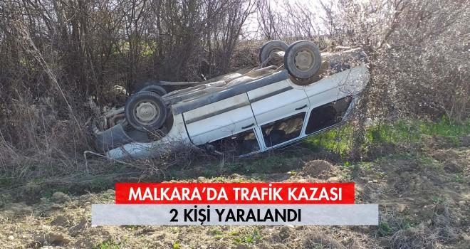 Malkara'da Trafik Kazası; 2 Yaralı
