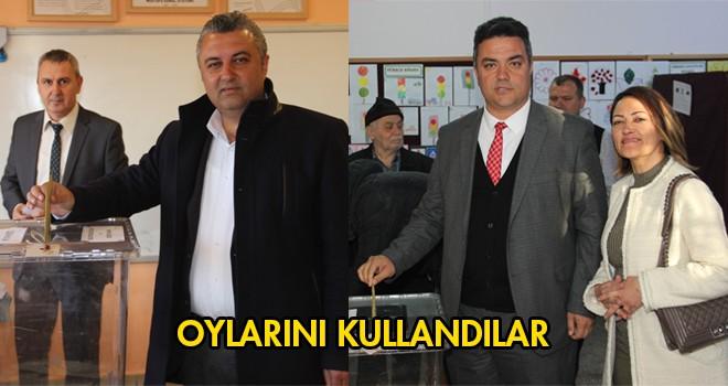 Belediye Başkan Adayları Oy'larını Kullandı