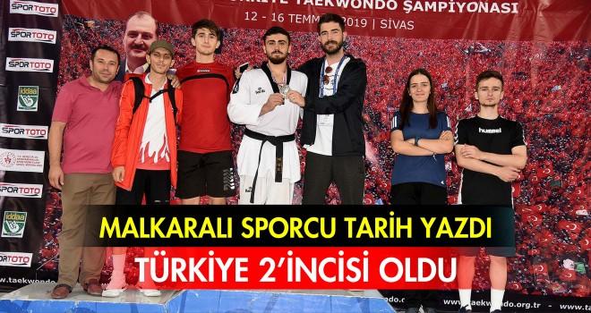 MALKARALI SPORCU TÜRKİYE 2'İNCİSİ OLDU