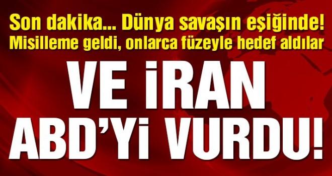 İran'dan ABD'ye misilleme! DÜNYA SAVAŞIN EŞİĞİNDE! Amerikan üslerini vurdular