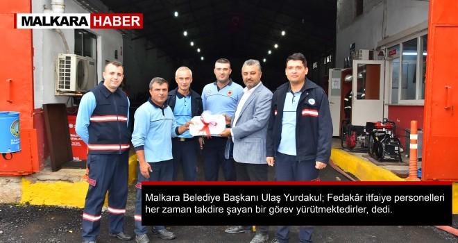 Başkan Yurdakul'dan İtfaiye İstasyonuna Ziyaret