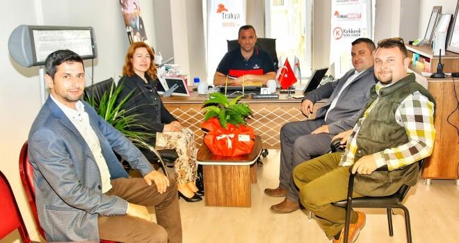 Başkan V. Karataş'tan Yerel Basına Ziyaret