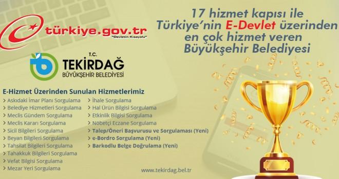 Tekirdağ Büyükşehir Belediyesi E-Devlet Entegrasyonunda Öncü Olmaya Devam Ediyor