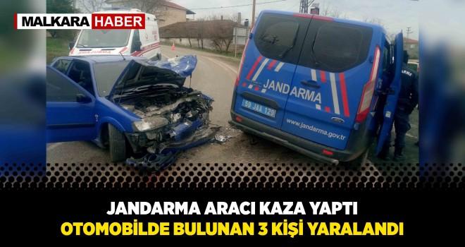 Jandarma Aracı ile Otomobil Çarpıştı; 3 Yaralı