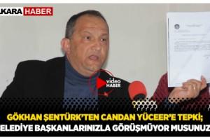 Başkan Şentürk, Candan Yüceer'in Kendi Belediyelerinden Haberi Yok!