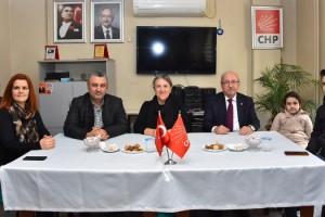 Başkanlardan CHP Malkara İlçe Başkanı Hülya Ertan'a Hayırlı Olsun Ziyareti