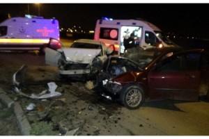 Edirne'de meydana gelen kazada 4 kişi yaralandı