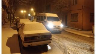 Malkara'da Kar Yağışı Sevinçle Karşılandı