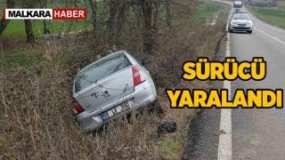 Malkara'da Trafik Kazası. Otomobil Sürücüsü Yaralandı.