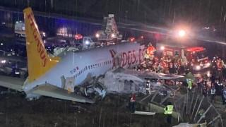 Sabiha Gökçen'de uçak pistten çıktı: 3 ölü, 180 yaralı