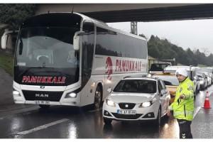 İstanbul'a giriş çıkışlarda otobüs ve araçlara denetim