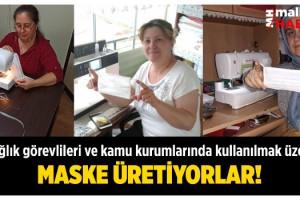Malkara Belediye Akademisi Kursiyerleri Maske Üretiyor