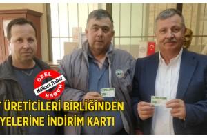 Malkara Süt Üreticileri Birliğinden Üyelerine İndirim Kartı