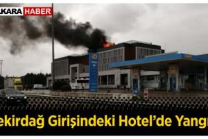 Tekirdağ'da Otelin Çatısı Yandı