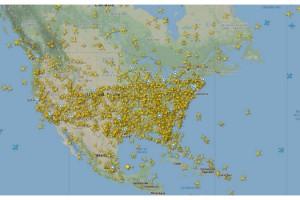 ABD hava trafiğindeki yoğunluk radara yansıdı