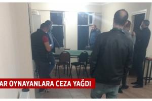 İş yerinde kumar oynayan 12 kişiye, 49 bin 800 lira ceza